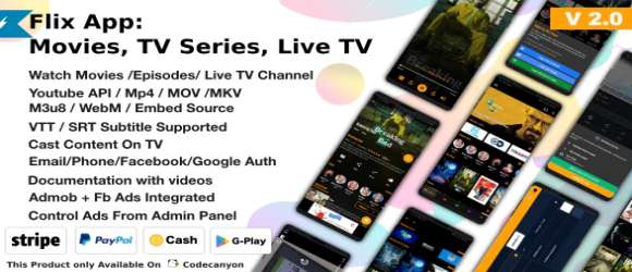 Flix Movies Android App - TV Series - Live TV Channels