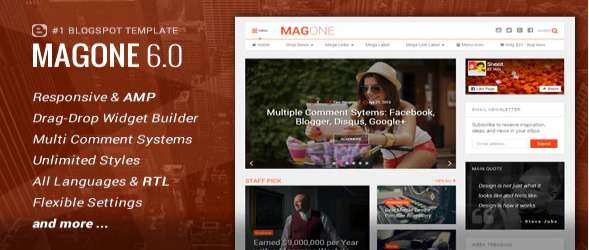 MagOne Blogger Template - Responsive News & Magazines
