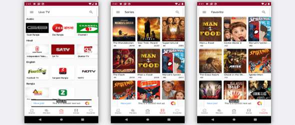 OXOO - Android Live TV & Movie Portal App with Subscription System Demo