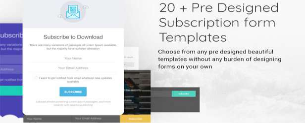 Subscribe to Download v1.2.5 - An Advanced Subscription Plugin WordPress forms designs demo