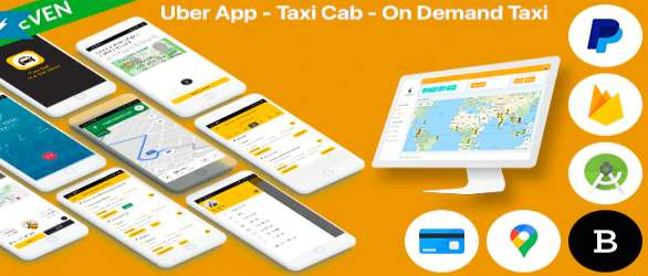 Uber App - Taxi Cab - On Demand Taxi Android & iOS Complete Solution
