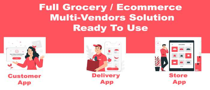 grocery - delivery services - ecommerce multi vendors (Android + iOS + Website) ionic 5 - CodeIgniter