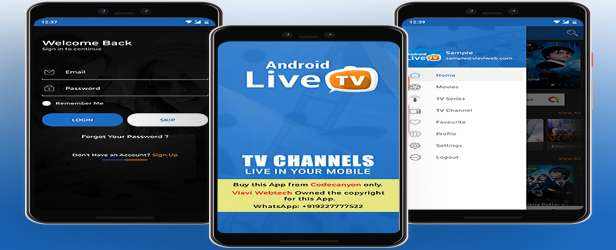 Android Live TV - TV Streaming - Movies - Web Series - TV Shows & Originals features view