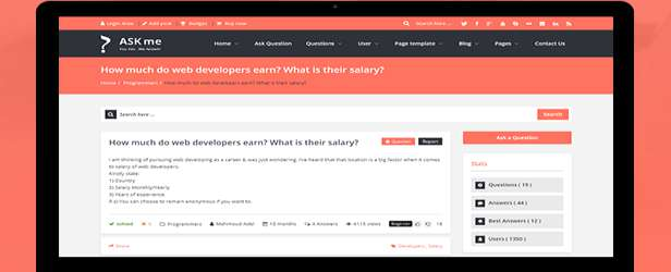 Ask Me - Responsive Questions & Answers WordPress Demo