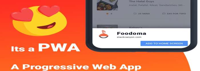 Foodomaa - Multi-restaurant Food Ordering, Restaurant Management & Delivery Application pwa feature