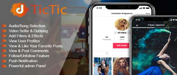 TicTic - Android Media App for Creating & Sharing Short Videos