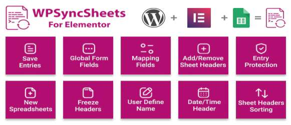 WP Sync Sheets For Elementor