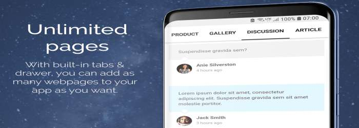 Web2App - Quickest Feature - Rich Android WebView demo