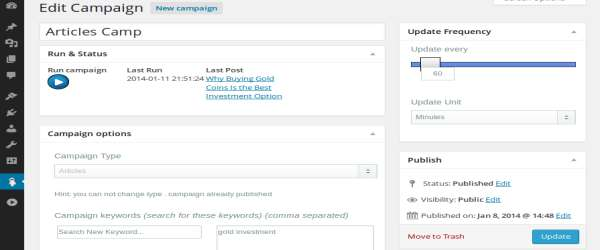 WordPress Automatic Plugin Articles Campaign