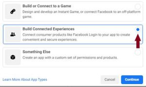 creating facebook app for blogger comments step 2