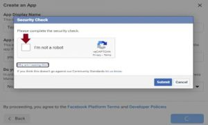 creating facebook app for blogger comments step 4