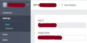 creating facebook app for blogger comments step 5-2