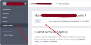 creating facebook app for blogger comments step 5