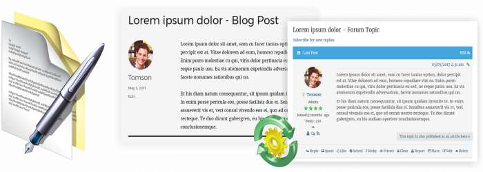 wpForo Premium Addons Blog Cross Posting