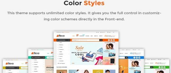 Revo - Premium Responsive PrestaShop Theme for Mega Store with Mobile-Specific Layout color styles